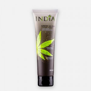 INDIA COSMETICS Krem do rąk z olejem z konopi 100 ml